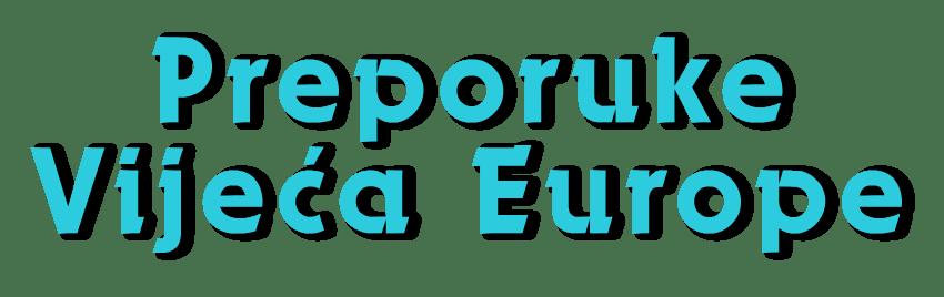 Preporuke Vijeća Europe - dekorativni naslov
