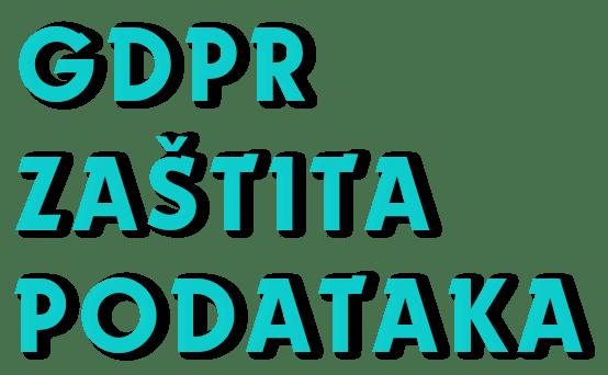 gdpr zaštita podataka - dekorativni naziv stranice