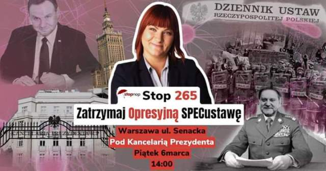 STOP 265- zatrzymaj opresyjną specustawę + live na żywo