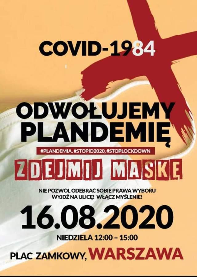 Relacja: Tysiące osób na odwołaniu Plandemii 16.08.2020