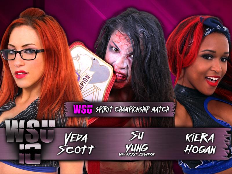 WSU Spirit Championship - Veda Scott vs. Su Yung (c) vs. Kiera Hogan
