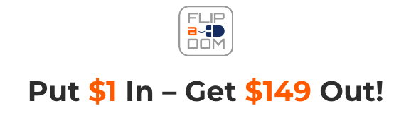 Flipadom is an over the shoulder style video training course teaching you how to flip domain names for fast profits 2