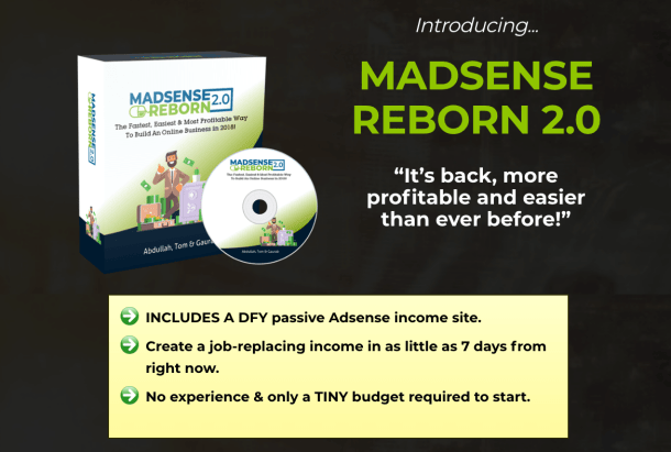 Madsense Reborn 2.0 is an Untapped Google Adsense Strategy Banking you Profits Daily Using Facebook Ads 2
