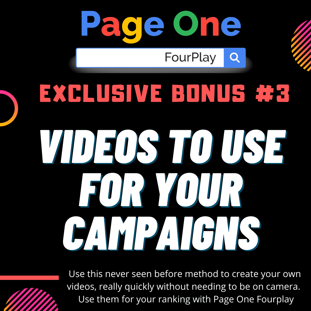 Page One Four Play | The Sneaky Way Of DOMINATING Page One of Google and Youtube 8