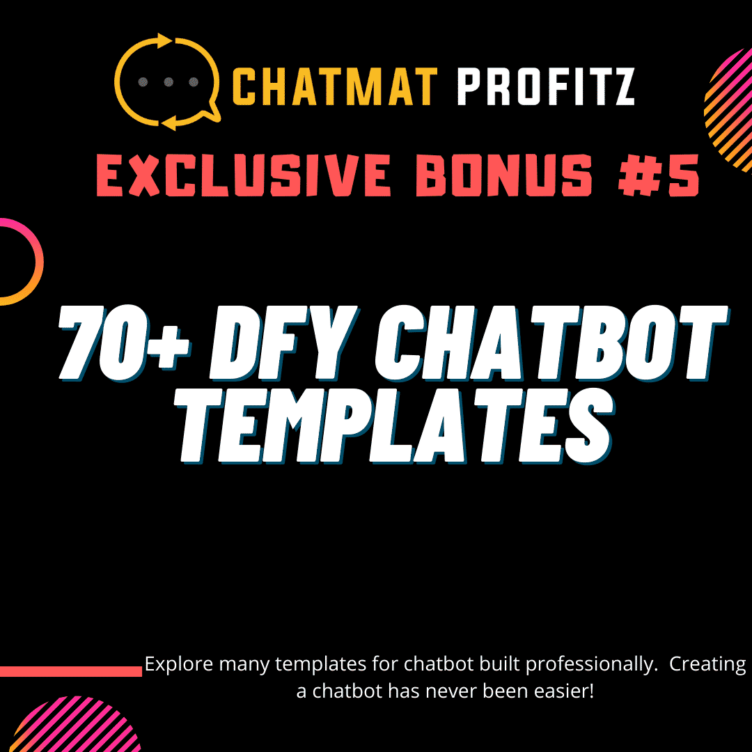 Chatmat Profitz | Easily drive traffic and grow a highly engaged and responsive messenger bot list for Free 13
