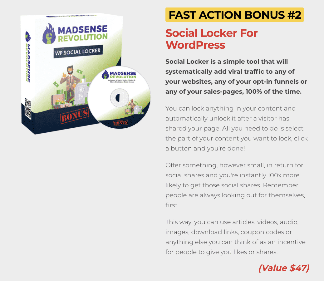 Madsense Revolution : How to get to 100,000 visitors per month and 6 figure income with 0 cost 6