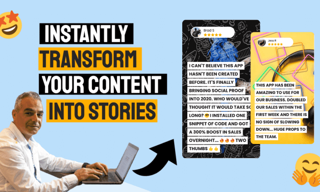 Storey – Instantly Transform Your Content Into The Most Powerful Social Proof Around… STORIES!