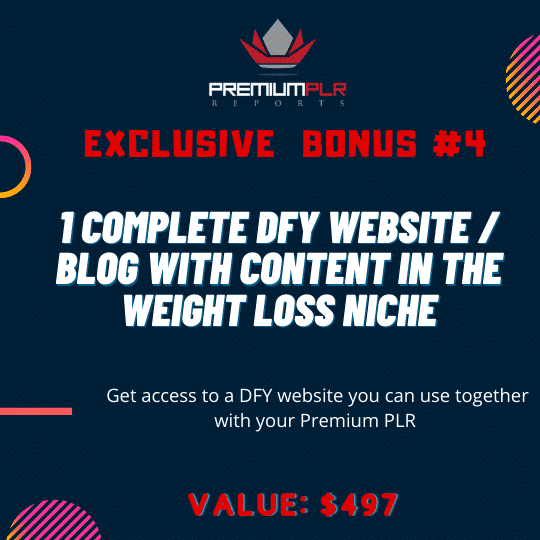 Premium PLR Reports - Weight Loss Made Simple 8