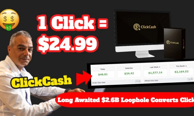 Click Cash Review | The #1 Hack that Lets You Get Paid FOR DOING NOTHING