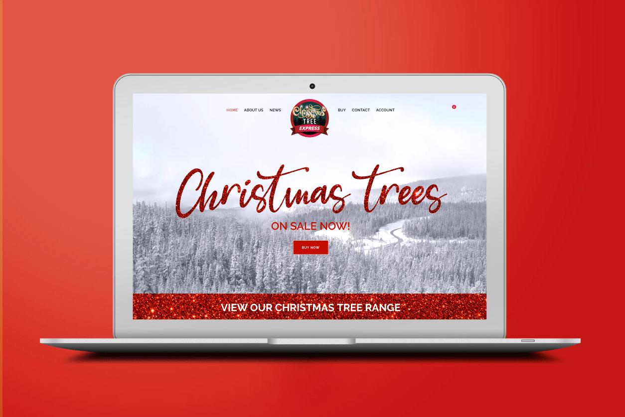 Christmas trees express website design and digital marketing