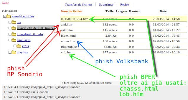 file manager non protetto