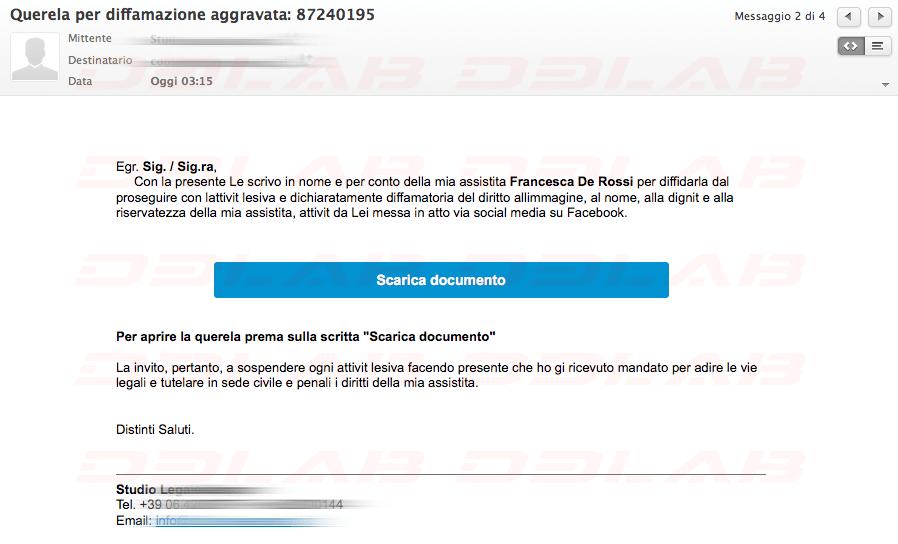 Malware Querela eMail