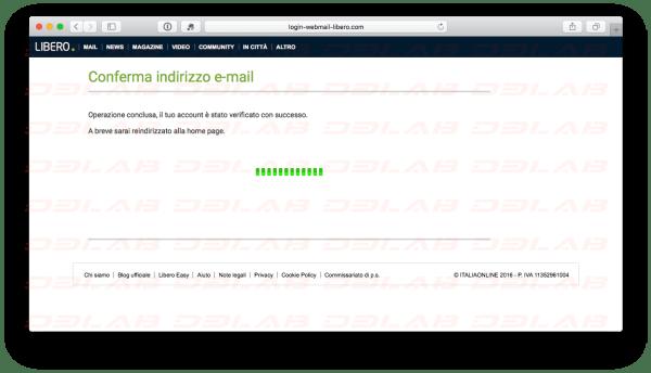 Libero Mail Phishing Verifica Credenziali