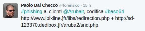 Tweet di Paolo Dal Checco