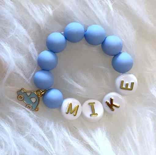Perlenarmband blau MIKE 1400