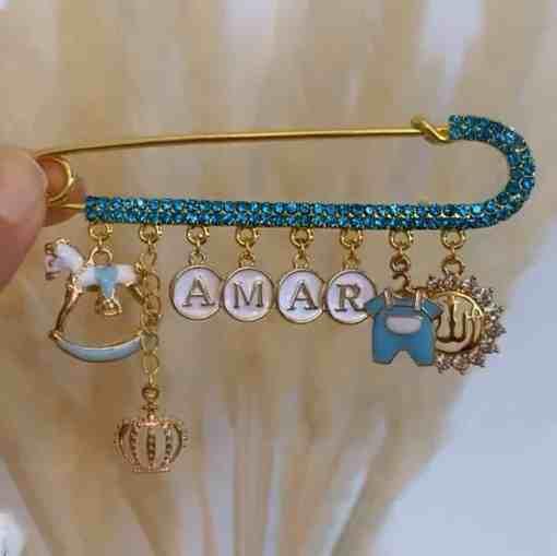 Strassnadel blau AMAR 10cm 2100