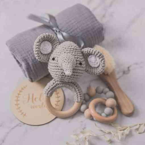 babygeschenk set elefant grau set1