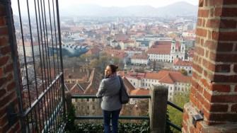 Blick vom Schloßberg Graz