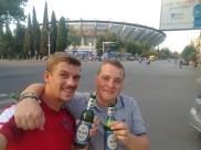 Endlich beim Stadion