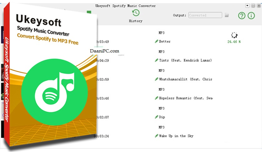 UkeySoft Spotify Music Converter [V3.1.9] Crack With Activation Code Latest Free Download