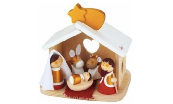 kerststal hout kinder houten kinderkerststal leukste
