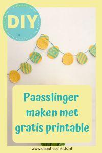 Paasslinger maken + gratis printable