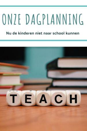 Onze Dagplanning nu de kinderen niet naar school kunnen - thuisonderwijs - homeschooling -mamablog - .jpg