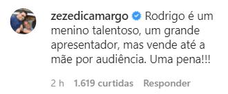 Zezé Di Camargo fala de Rodrigo Faro