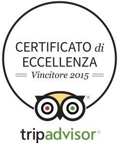 certificato cerchio 2015 Da Bepo ha ricevuto il certificato di eccellenza TripAdvisor 2015