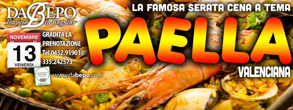 Copertina Paella 2e 1024x385 13 NOVEMBRE   SERATA PAELLA