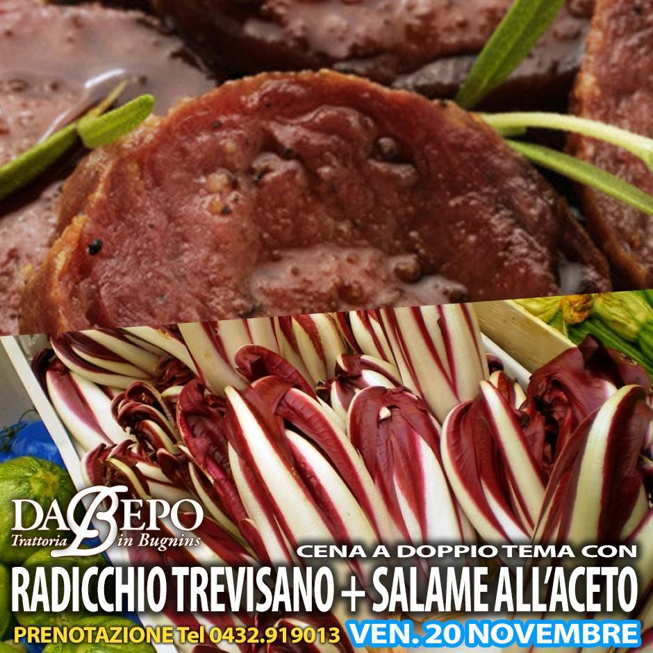 radicchio salame copy 20 NOVEMBRE   SERATA RADICCHIO TREVISANO E SALAME ALLACETO