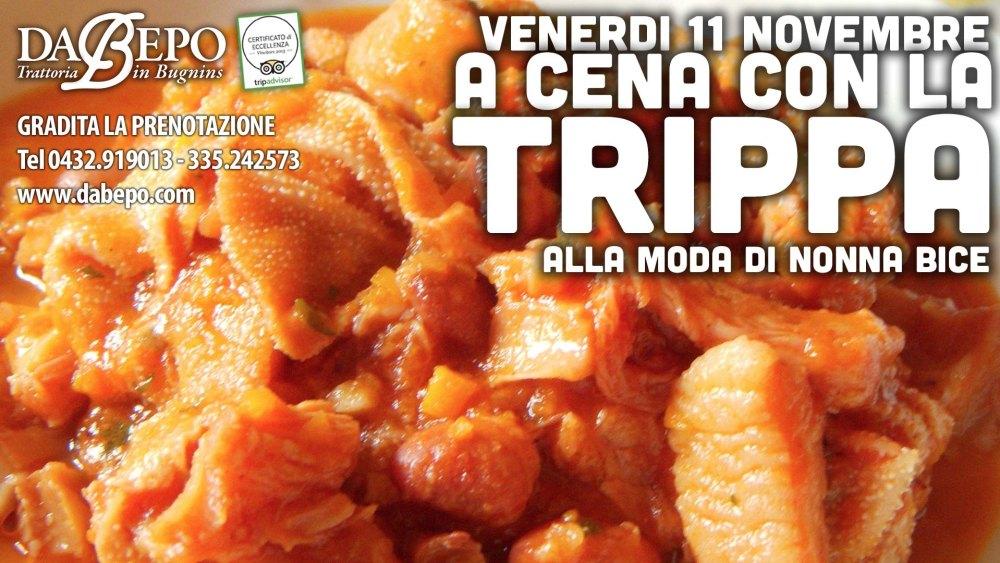 Trippa 1024x576 Venerdì a cena con la Trippa, trattoria Da Bepo Bugnins