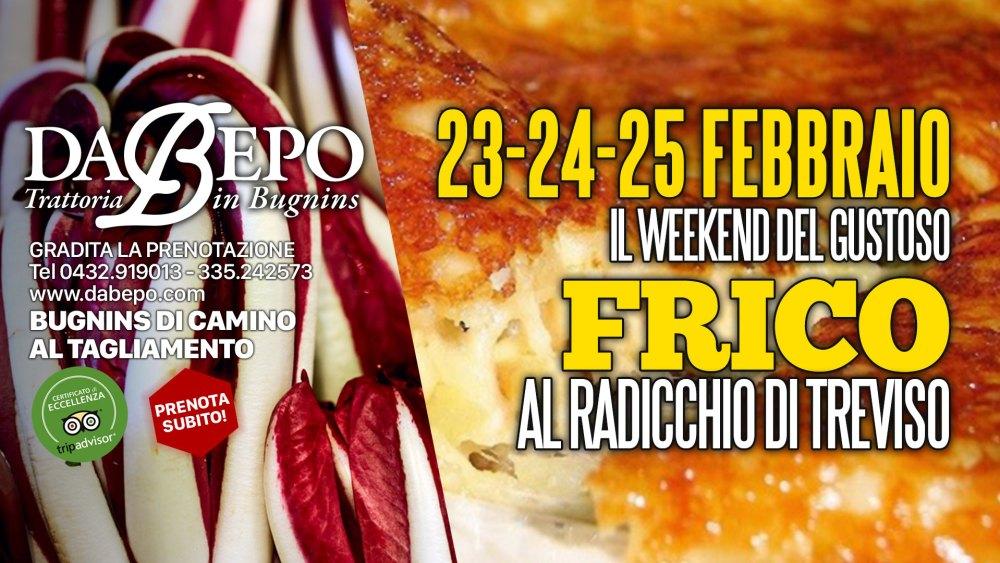 Frico Radicchio 1024x576 23 24 25 Febbraio 2018   Weekend del Frico al radicchio di Treviso