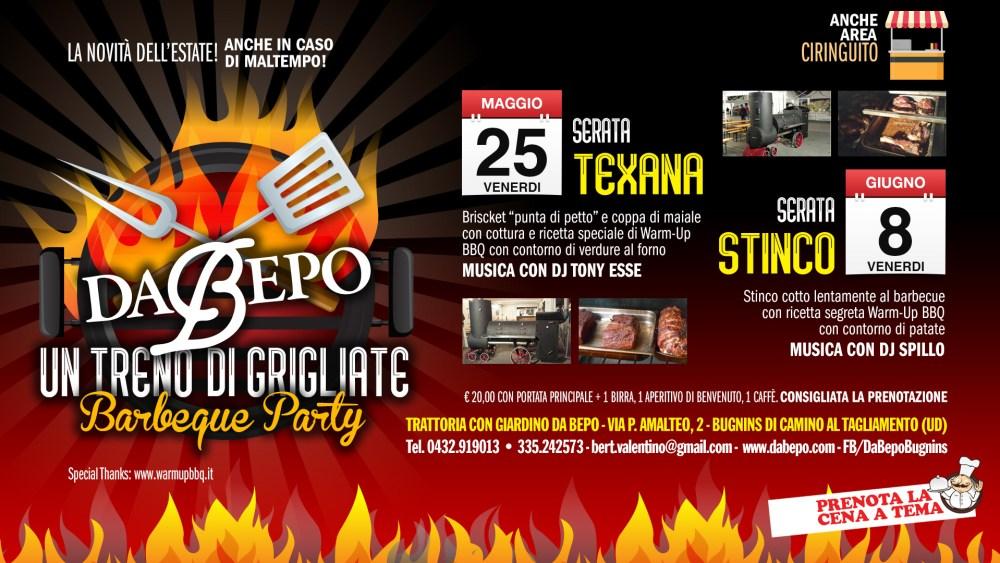 Da Bepo BBQ Cover 1 1024x576 25 maggio + 8 giugno 2018: Da Bepo Barbeque Party   Un treno di grigliate / Stinco + Texas