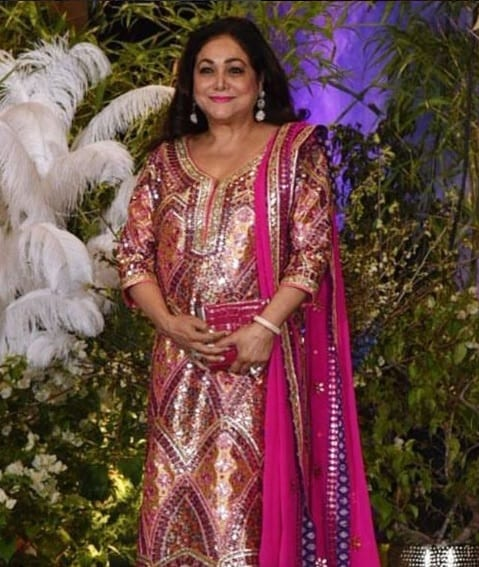 Tina Ambani multicolour mirror work outfit