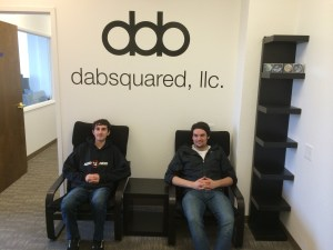 Doug and Daniel in their new office
