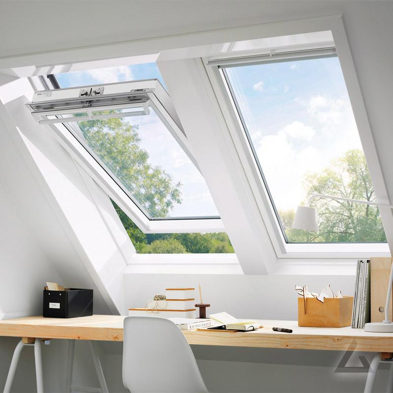 velux schwingfenster ggl mk08 2068 weiss lackiert energie alu 78x140 cm