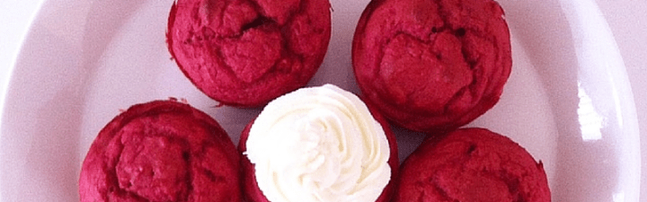 Soft Red Velvet Pupcakes