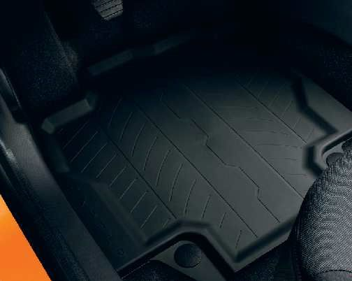 renault captur tapis de sol en caoutchouc avec des bords eleves renault original 2013 2019