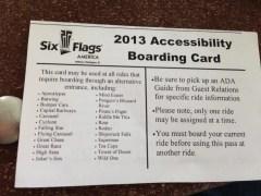 SFA - Accessibility Boarding Card 2013