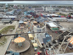 Aerial view of Mariner's Landing, Wildwood, NJ