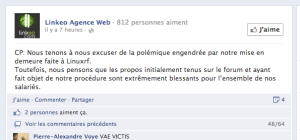 Linkeo sur Facebook.