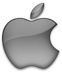 Apple silver logo