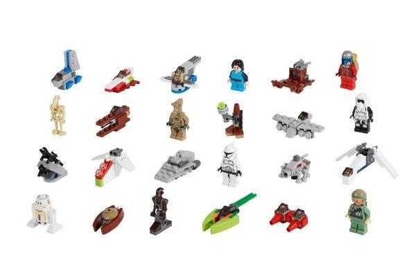 Calendrier avent Star Wars 75023 contenu