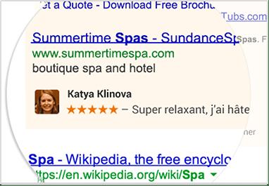 Exemple recommandation dans publicite
