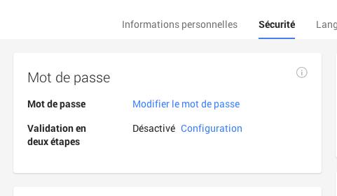 activation validation deux etapes google