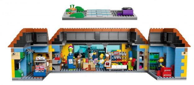LEGO Kwik-E-Mart éclatée