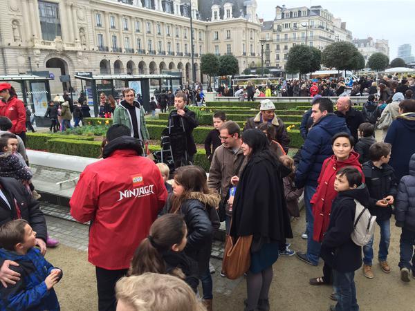 L'évènement LEGO de pâques à Rennes (photo du tweet d'Antoine Guibert)