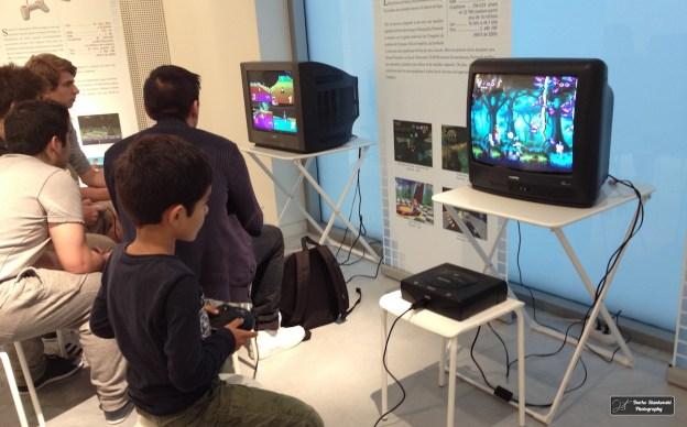 En pleine partie de Rayman sur Sega Megadrive (D.Stankovski)