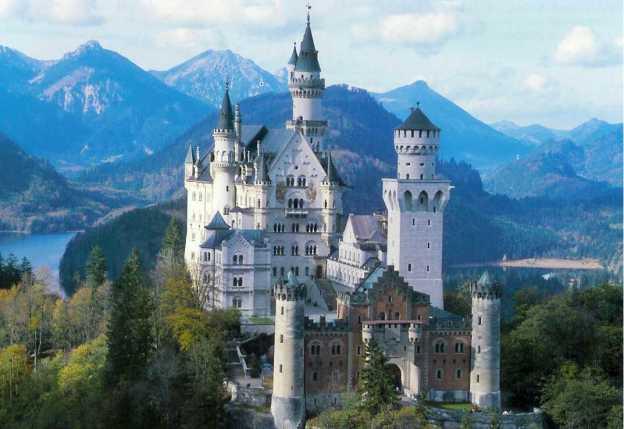 Le Château de Neuschwanstein en Bavière (inconnu)